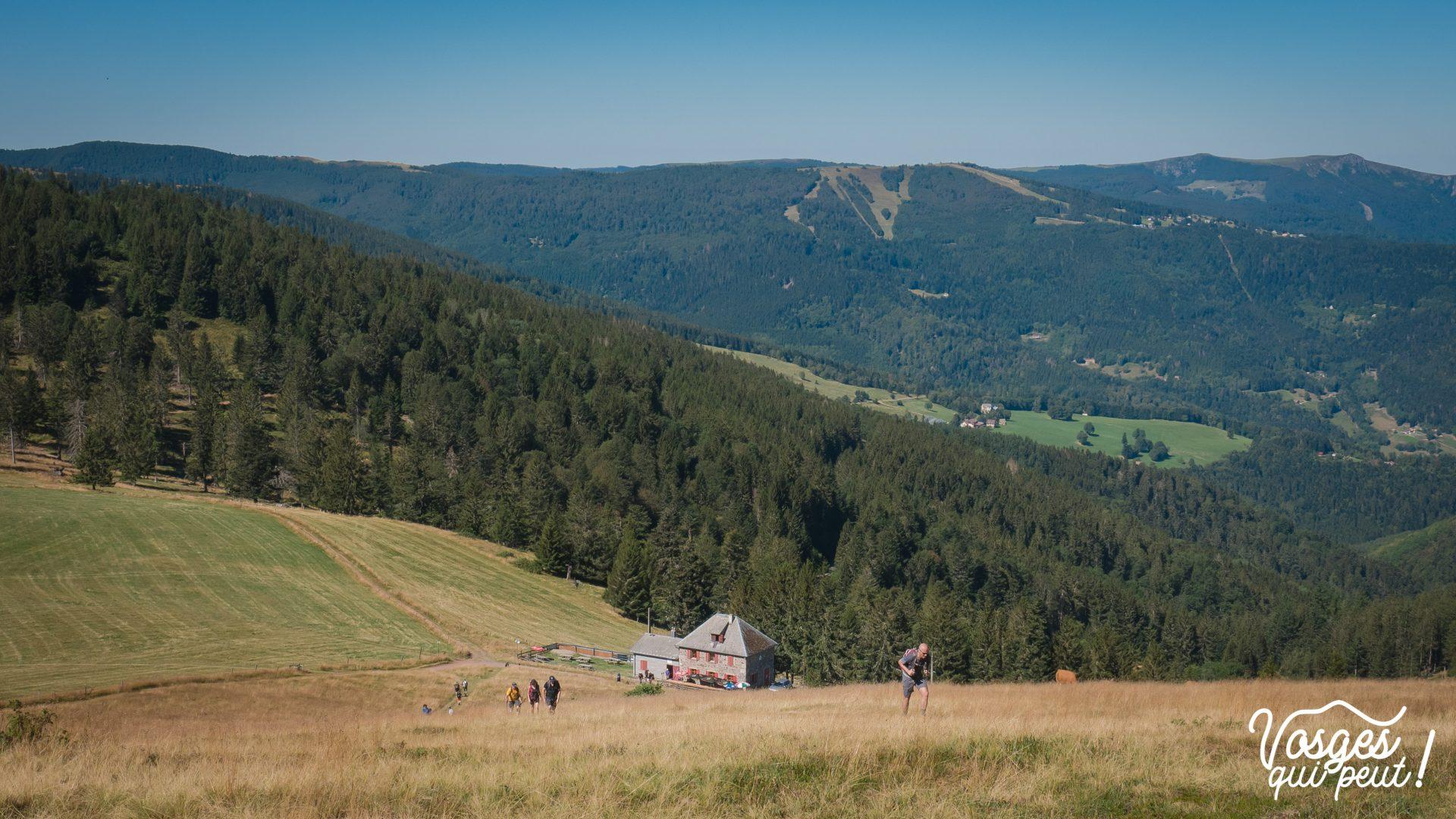 Vue sur refuge du Rothenbruenn dans le Massif des Vosges