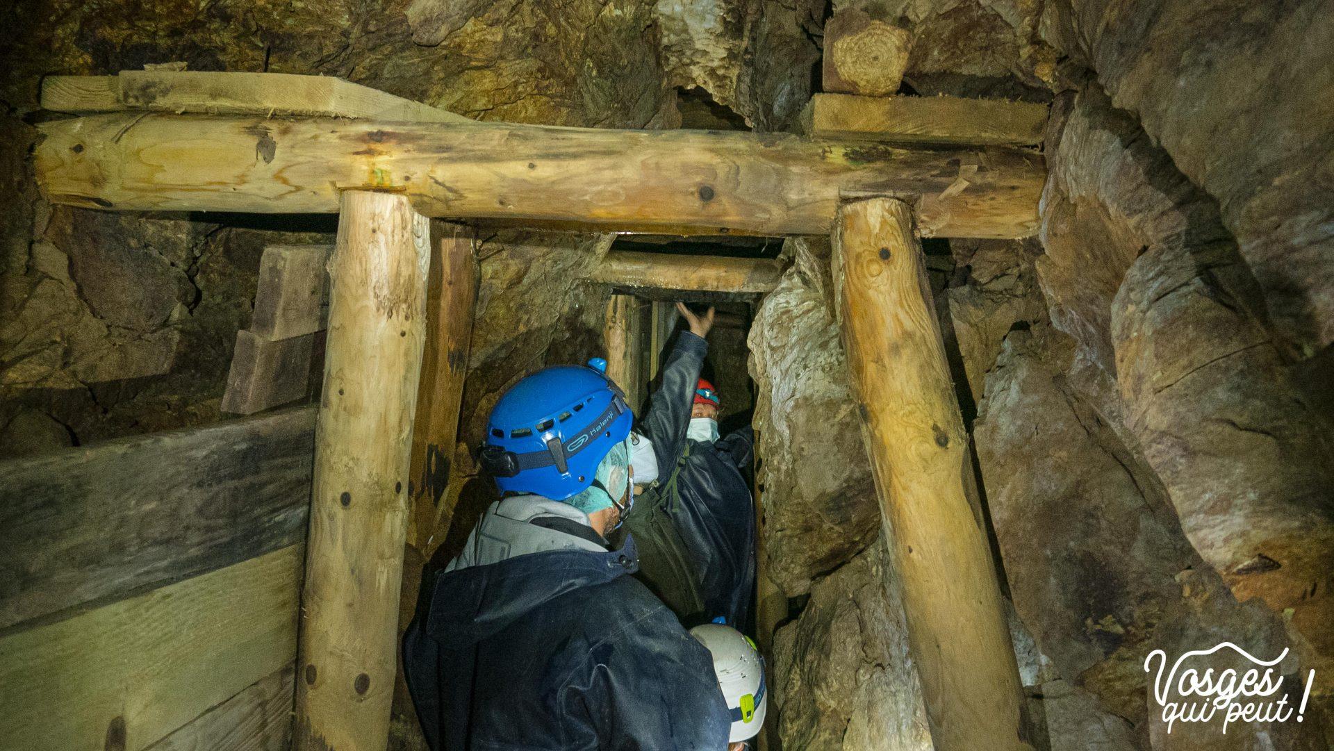 Boyau d'une mine d'argent dans le Massif des Vosges