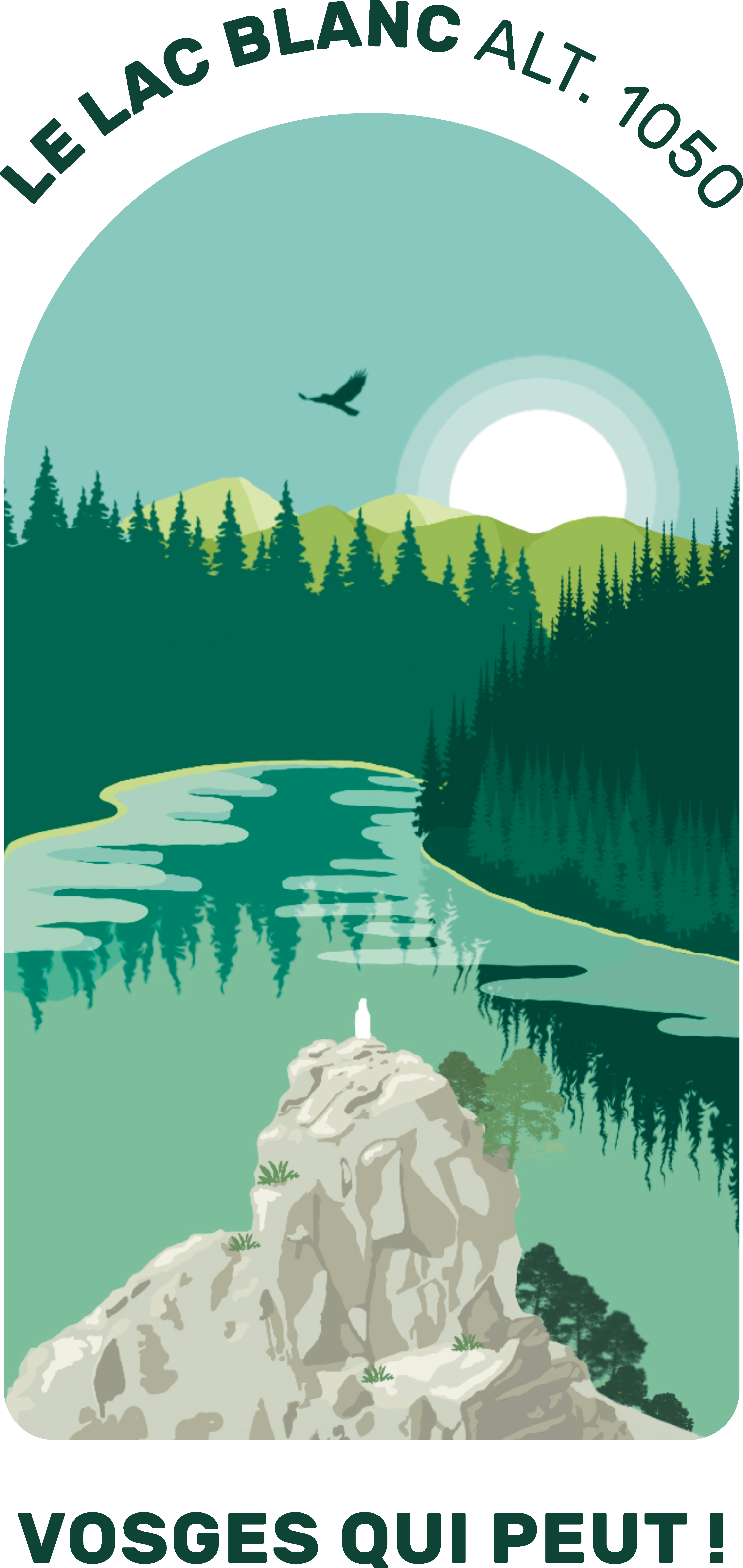 Illustration du lac Blanc