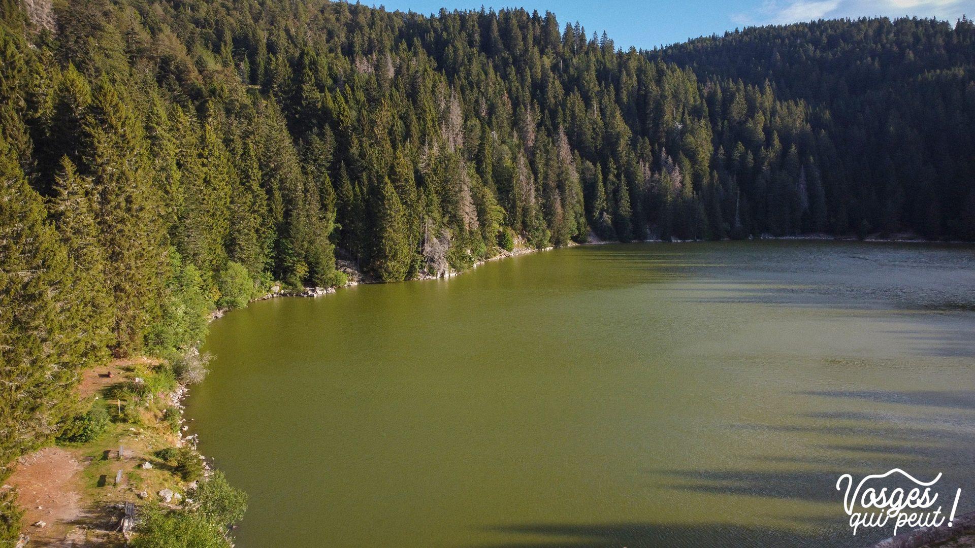 Le lac vert vu du ciel