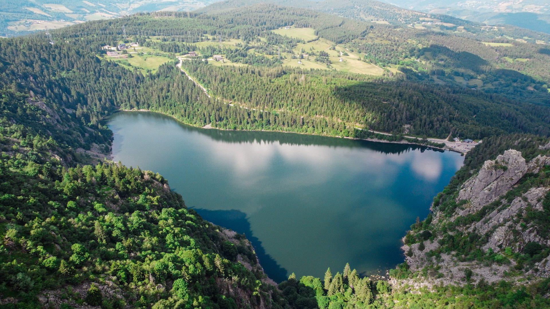 Le lac Blanc dans les Vosges