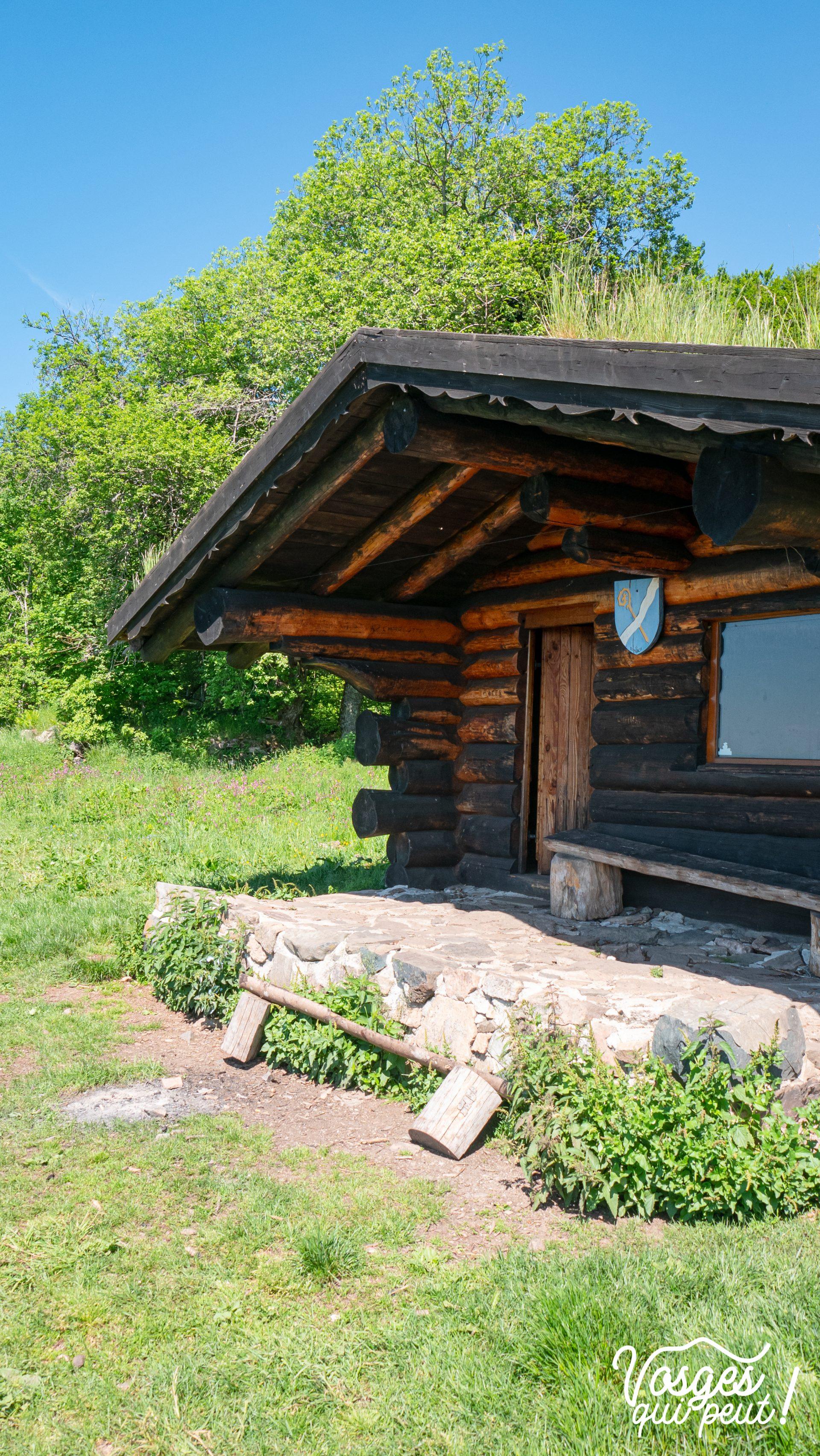 Cabane pour randonneurs dans le Massif des Vosges