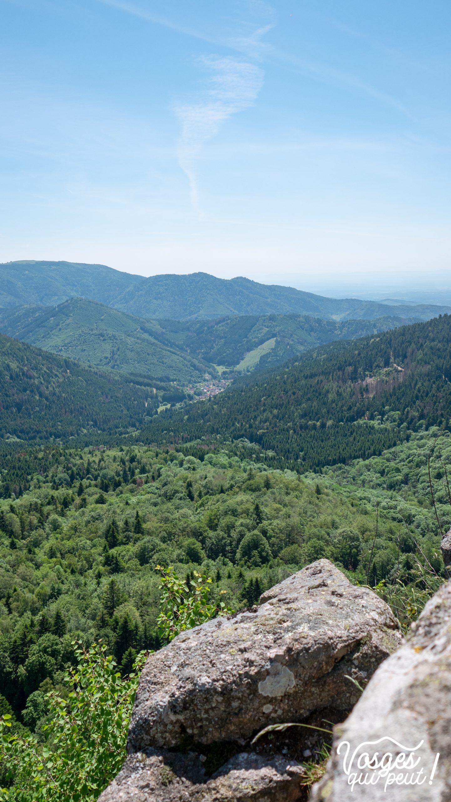 Panorama depuis un rocher dans le Massif des Vosges