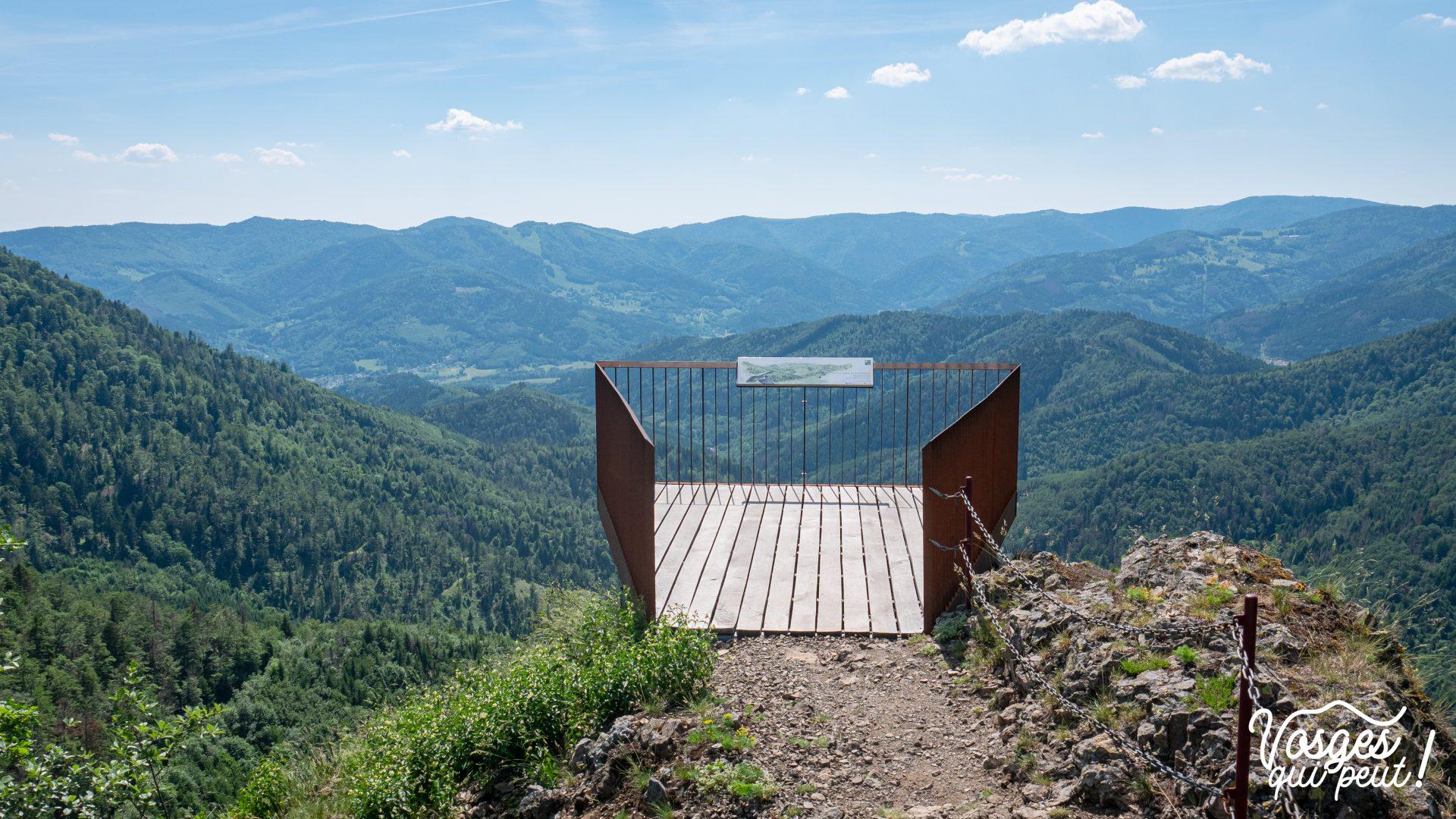 Plateforme panoramique du Fuchsfelsen dans le Massif des Vosges