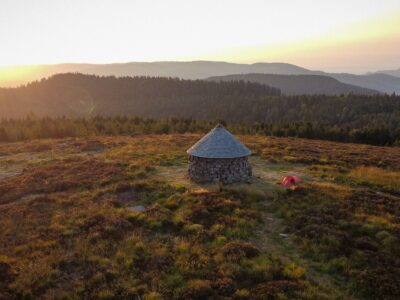 Lever de soleil sur la Haute Loge dans le Massif des Vosges