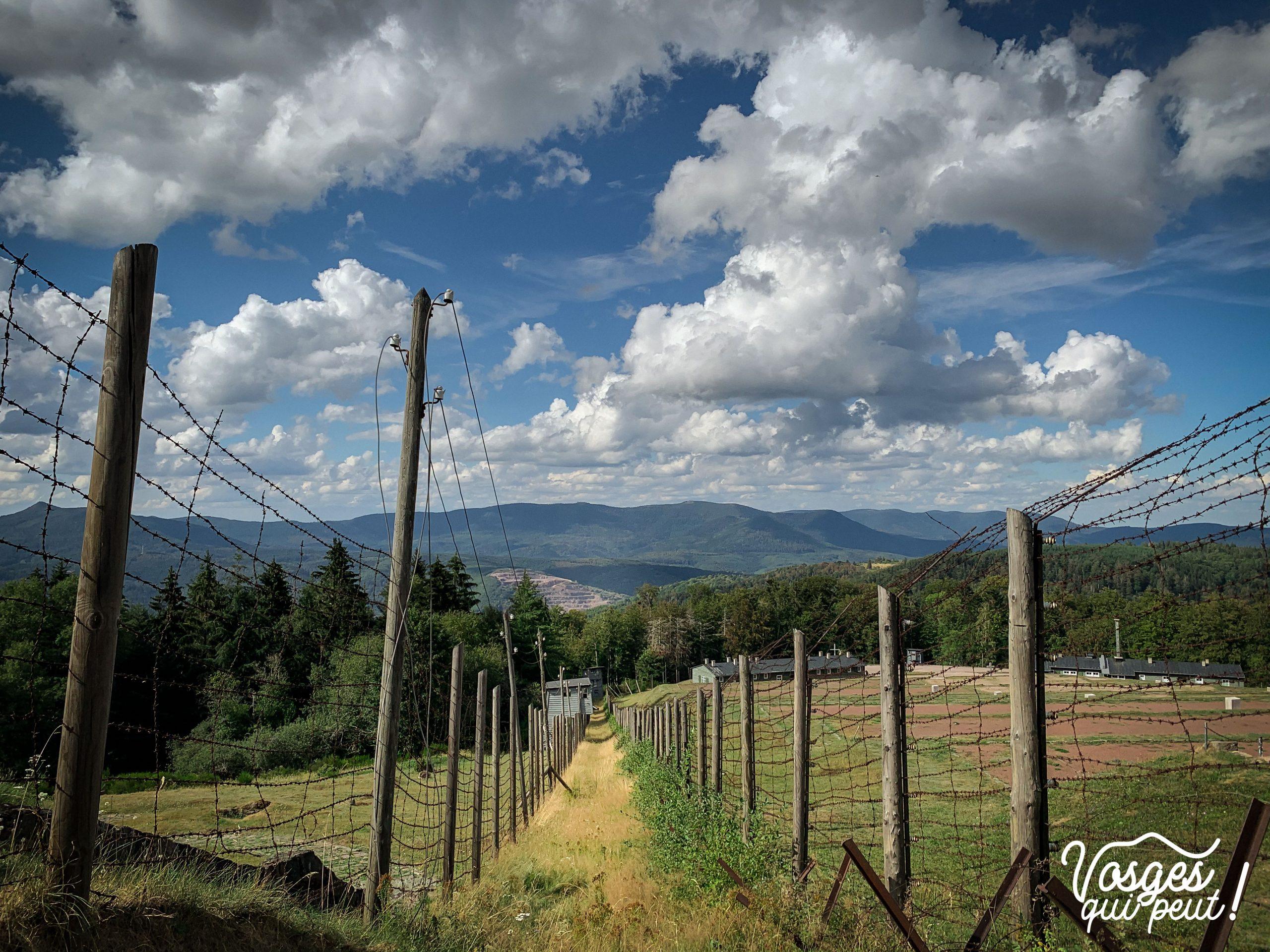 Vue sur le camp du Struthof dans le Massif des Vosges