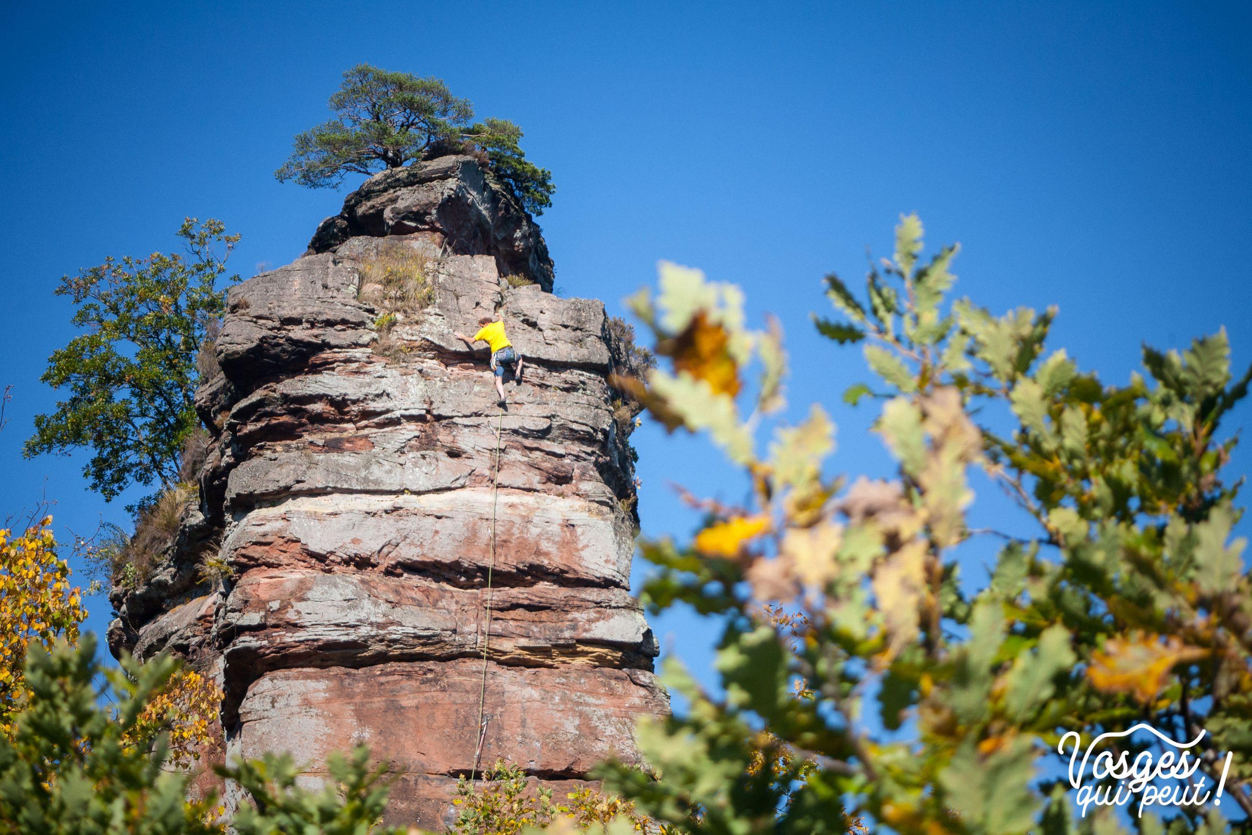 Le château du Vieux Windstein dans les Vosges du Nord