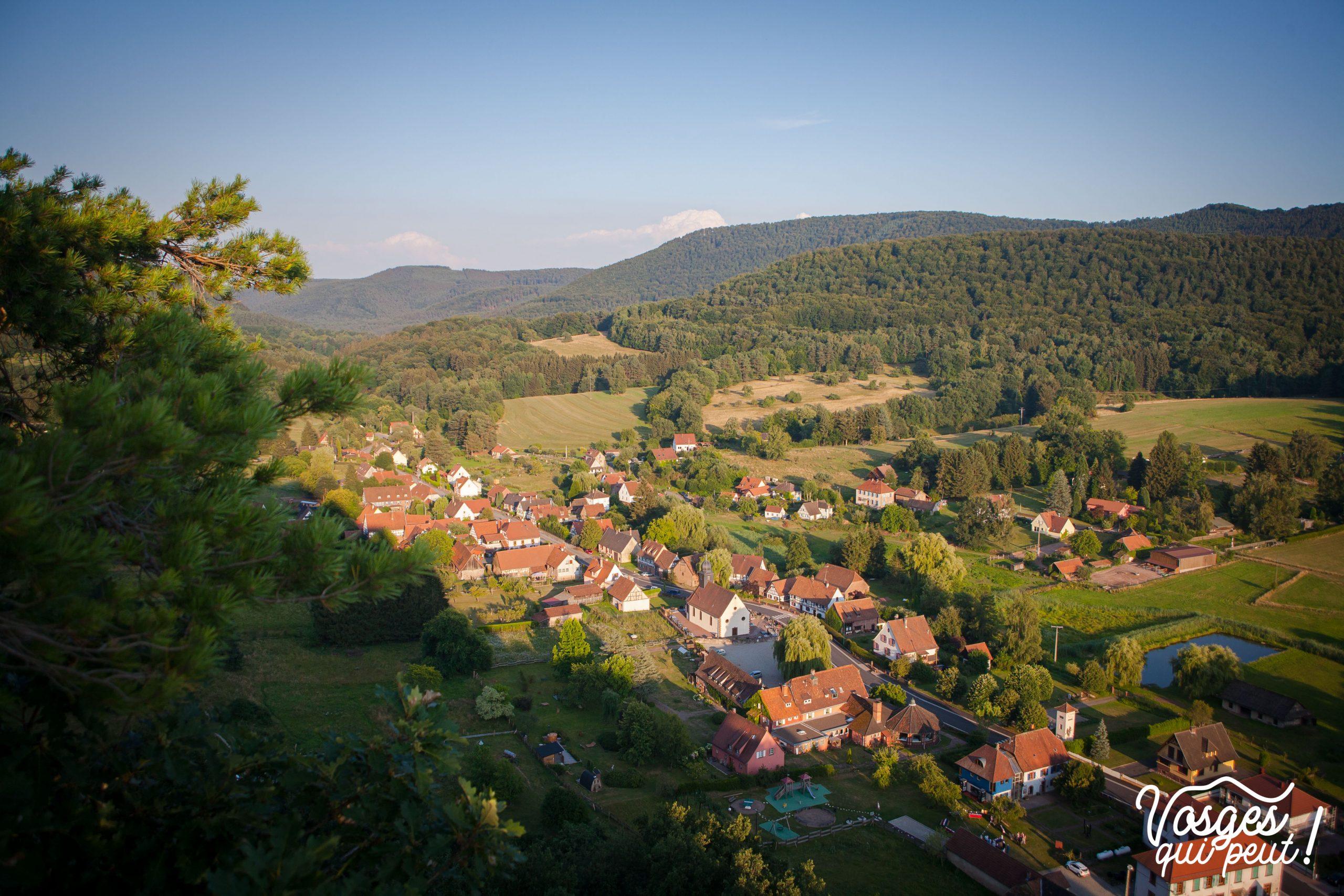 Le village d'Obersteinbach dans les Vosges du Nord
