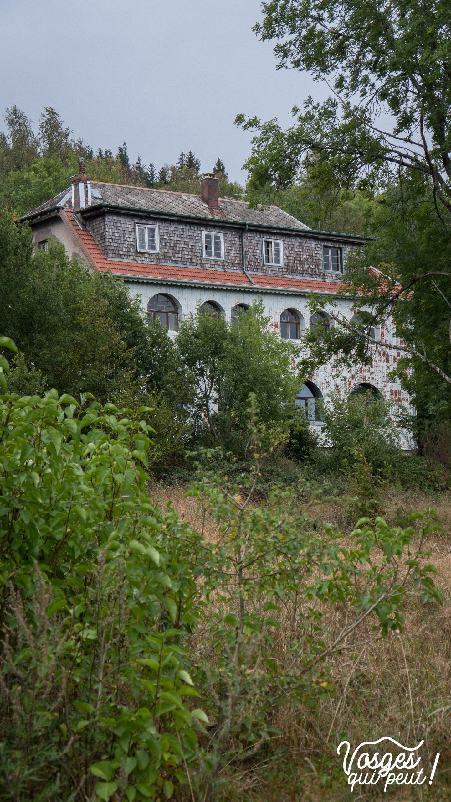 L'arrière de la ferme du Zybrink dans le Massif des Vosges
