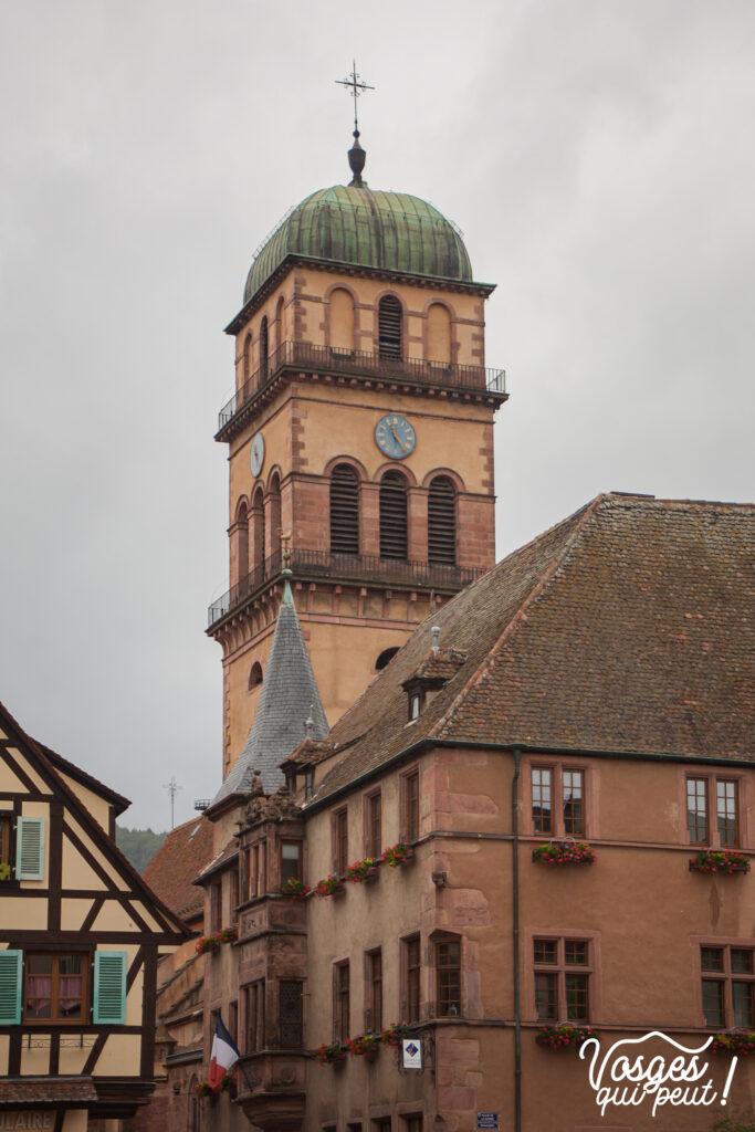 Vue sur l'église de Kaysersberg
